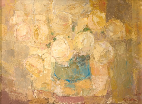 224 Still life with yelow roses 43x58.5 SA Decker