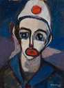 165 Red lipped clown 32x24 Susanna UK
