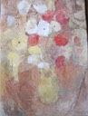341 White and red poppies in a yellow vase Koorts  SA