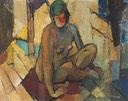 306 Sitting nude 53x67 Ruth Allen  SA BFC0100
