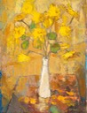 59 Yellow flowers in a white vase  59x45 Mackellar  SA BFC0108
