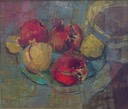 359 Pomegranates and lemons 37x43.5 Strydom Leon SA