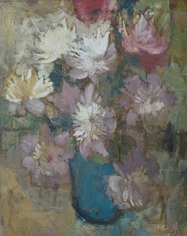 345 Still life with spring anemones 74x59   Peter Spence  SA