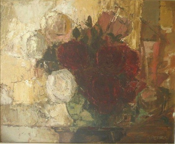 258 Still life with roses 69x54 SA Swanepoel