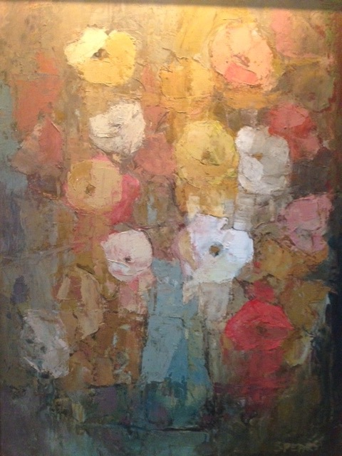 315  Mixed flowers in a blue vase  Ilse du Plessis SA